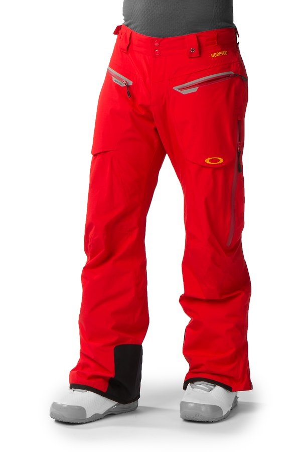 Oakley Allied Gore-Tex Men's Ski or Snowboard Pants, L, Red Line