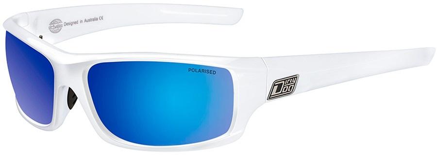 Dirty Dog Clank Blue Polarized Fusion Mirror Sunglasses, M White