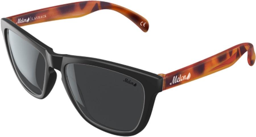 Melon Layback Smoke Polarized Sunglasses, Sable