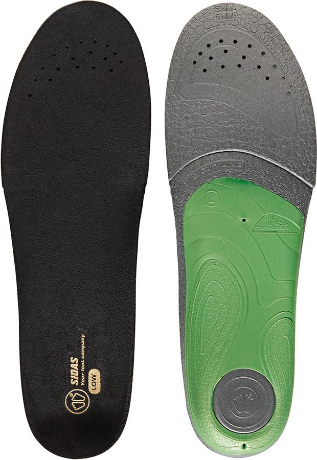 Sidas 3Feet Slim Low Boot/Shoe Insoles, S Black/Green