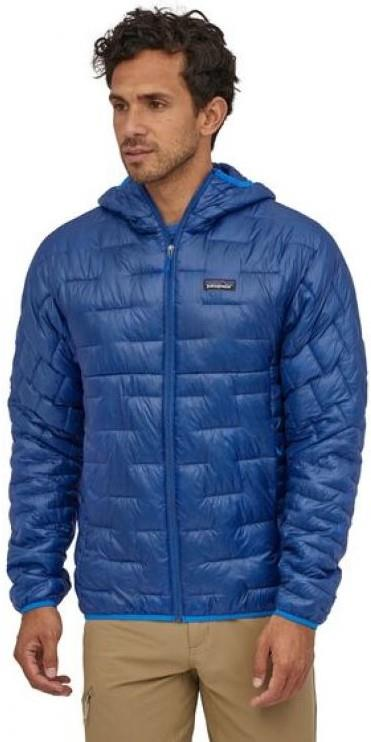 Patagonia Adult Unisex Micro Puff Hoody Insulated Zip Up Jacket, Xl Superior Blue
