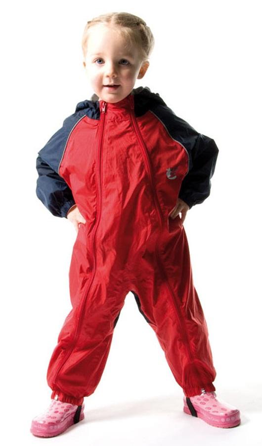 Bushbaby Splashsuit Baby/Kids Waterproof One Piece, 36 Months+ Red