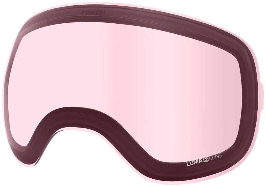 Dragon X2 Ski/Snowboard Goggle Spare Lens, OS LumaLens Light Rose