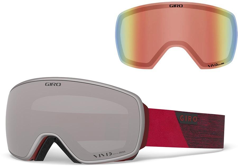 Giro Agent Vivid Onyx Ski/Snowboard Goggles, L Red Peak