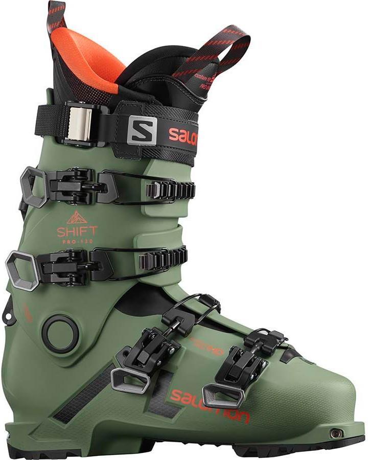 Salomon Shift Pro 130 AT Ski Boots, 27/27.5 Oil Green 2022