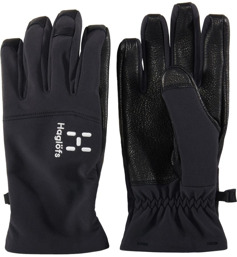 Haglofs Touring Leather Ski/Snowboard Gloves, 7 Black