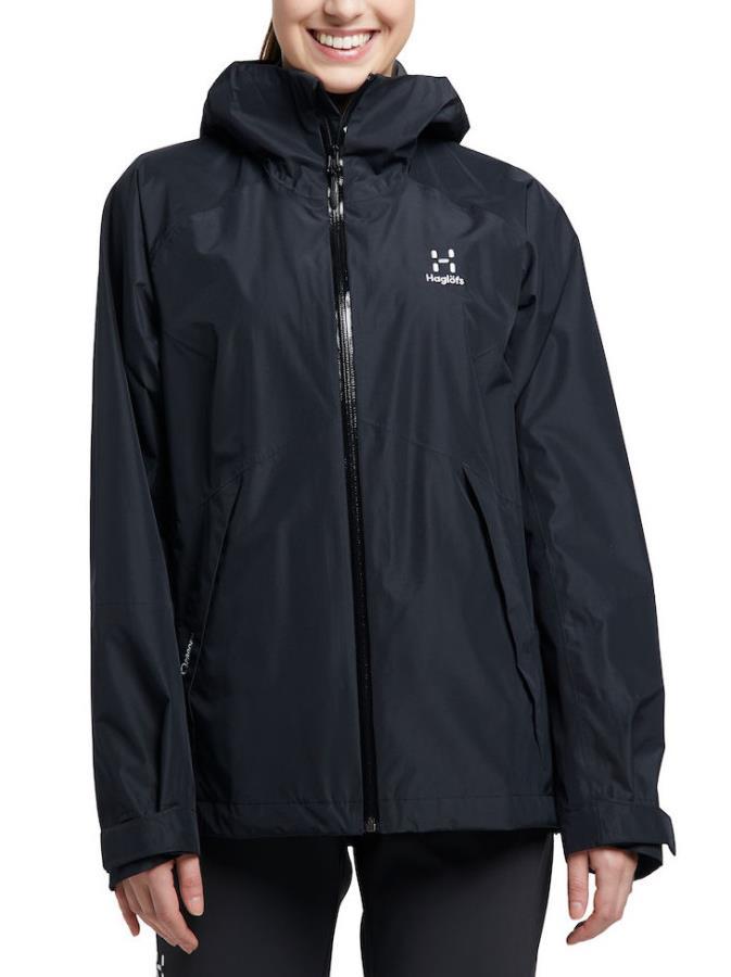 Haglofs Skuta Women's Waterproof Shell Jacket, S True Black