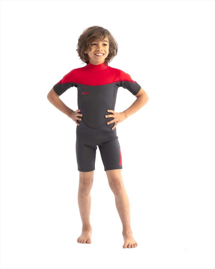 Jobe Boston 2mm Kids Shorty Wetsuit, Kids UK 14 Black Red 2021