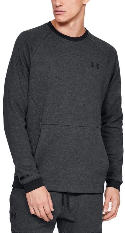 Under Armour Unstoppable Thermal Top Double Knit Crew Sweater, L Black