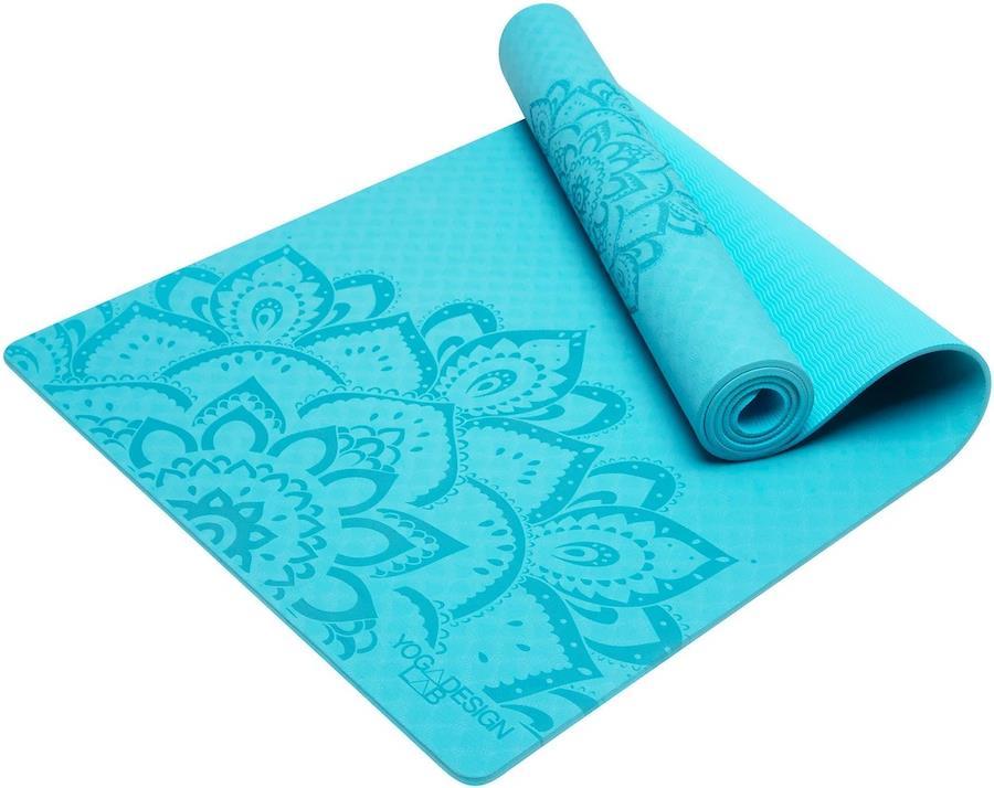 Yoga Design Lab Flow Yoga/Pilates Mat, 6mm Pure Mandala Aqua
