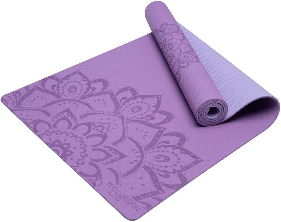 Yoga Design Lab Flow Yoga/Pilates Mat, 6mm Pure Mandala Lavender