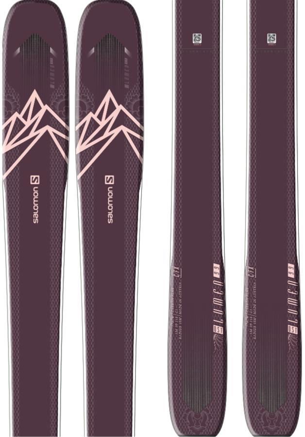 Salomon QST Lumen 99 Ski Only Skis, 167cm Purple/Light Pink