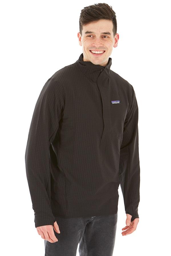 Patagonia Adult Unisex R1 Techface Pullover Softshell Jacket, M Black