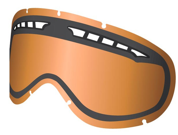 Dragon DXS Snowboard/Ski Goggles Spare Lens, One Size, Amber