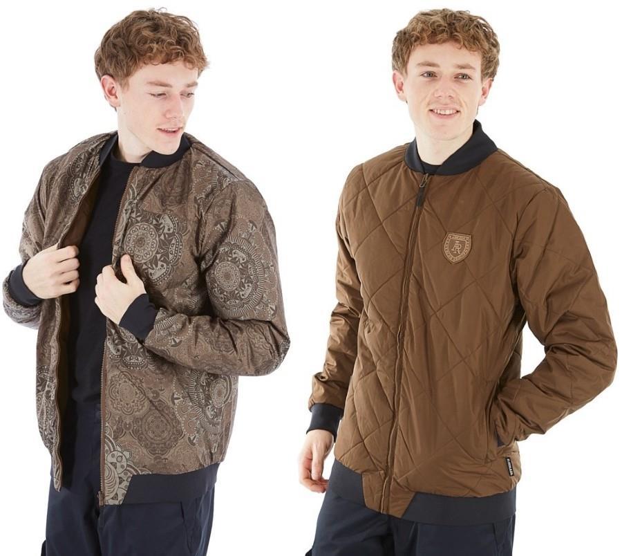Armada Billy Bomber, Reversible Insulated Ski Midlayer Jacket, M Olive