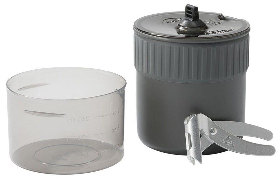 MSR Trail Mini Solo Cook Set Backpacking Cookware, 0.75L Grey