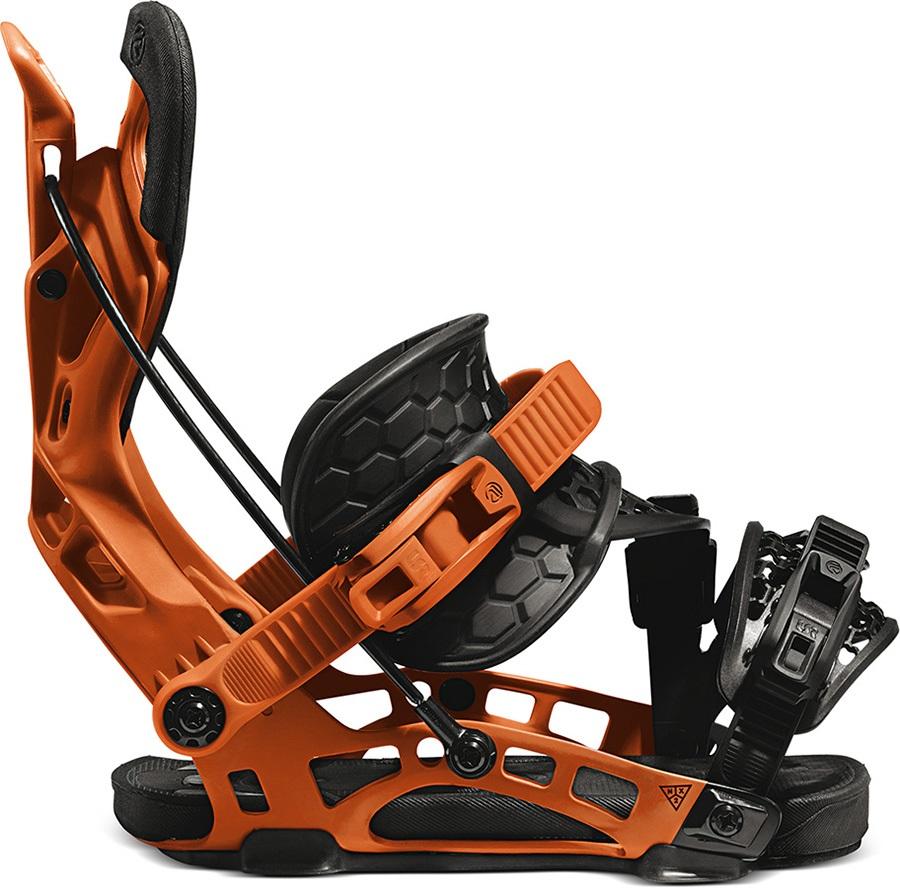 Flow Nx2 Hybrid Step In Snowboard Bindings, L Orange 2021