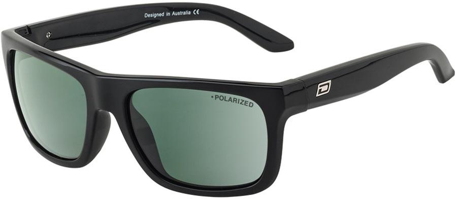 Dirty Dog Boom Green Polarized Sunglasses, Black