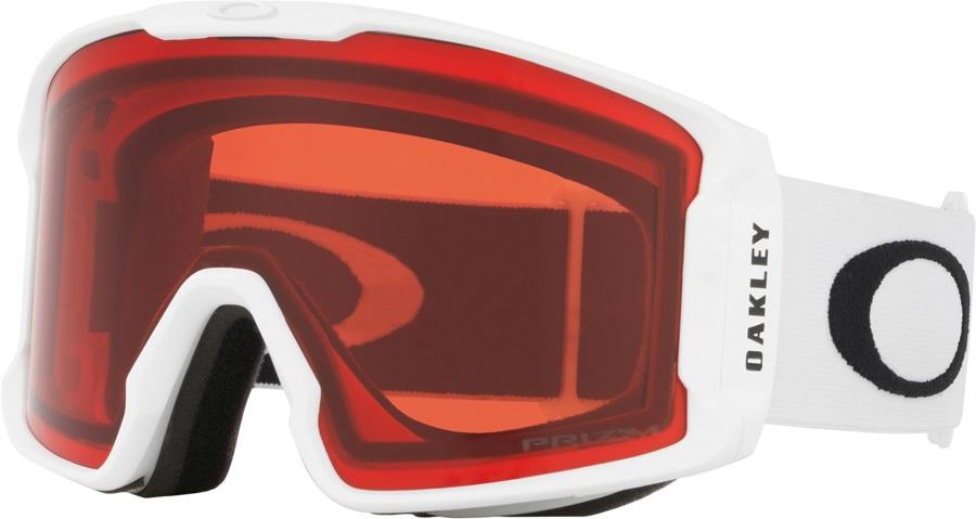 Oakley Line Miner Prizm Rose Snowboard/Ski Goggles, L Matte White