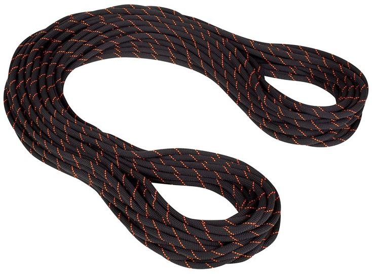 Mammut 9.9mm Gym Workhorse Dry Rope Rock Climbing Rope, 40m X 9.9mm Black