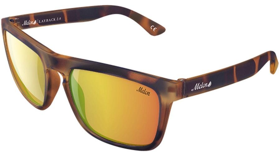 Melon Layback 2.0 Gold Chrome Polarized Sunglasses, Pimento