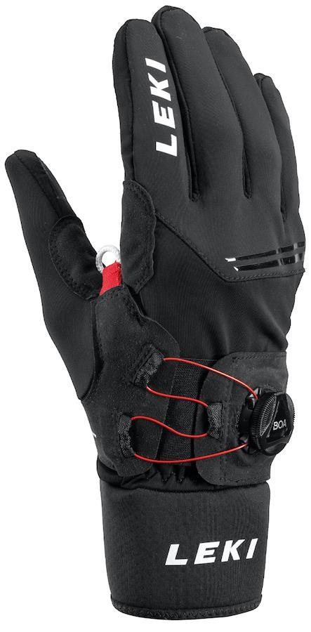 Leki Nordic Tune Shark Boa Trekking/Nordic Walking Gloves, XL Black