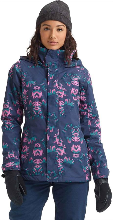 Burton Jet Set Women's Snowboard/Ski Jacket, L Dress Blue Stylus