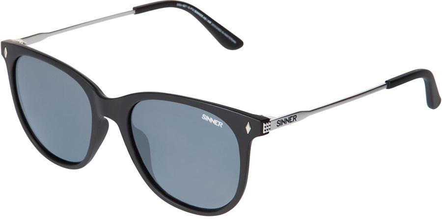 Sinner Jay CX Sintec Smoke Flash Wayfarer Sunglasses, M Black