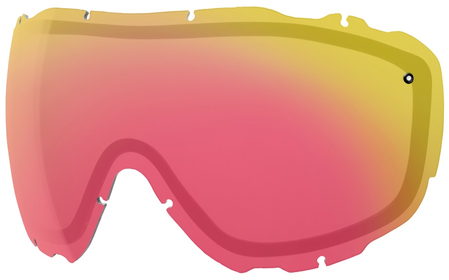 Smith Prophecy Turbo Fan Snow/Ski Goggle Spare Lens, Red Sensor Mirror