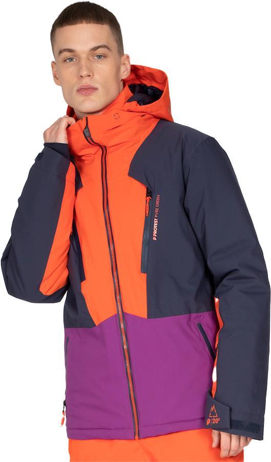 Protest Dipper Men's Ski/Snowboard Jacket, L Eggplant