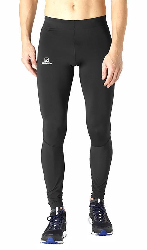 Salomon Men's Agile Warm Running Legging Tights, S Black