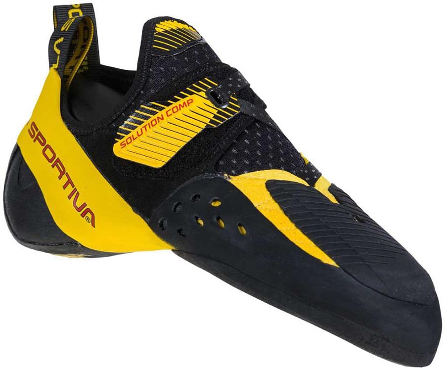 La Sportiva Adult Unisex Solution Comp Rock Climbing Shoe, Uk 9.5 | Eu 43.5 Yellow/Black