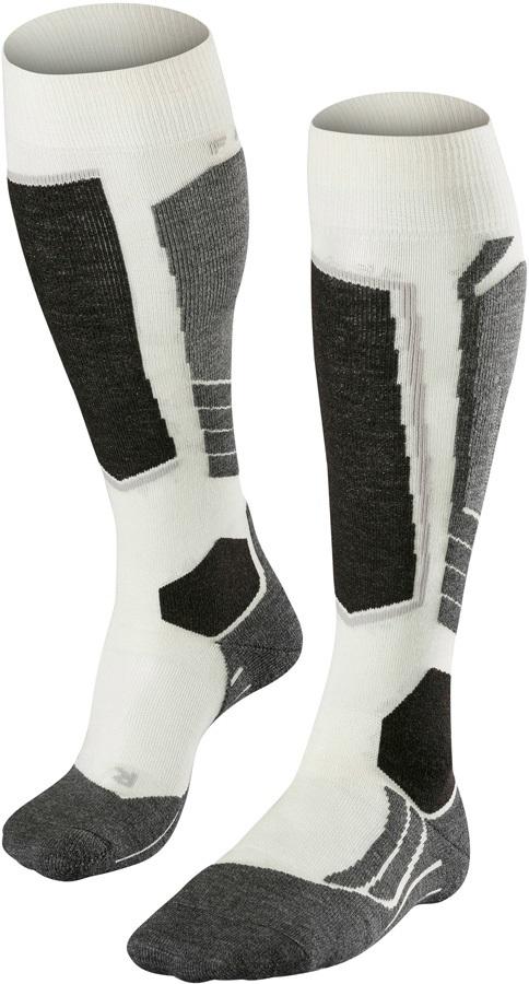 Falke SK2 Merino Wool Women's Ski Socks, UK 4-5 Offwhite