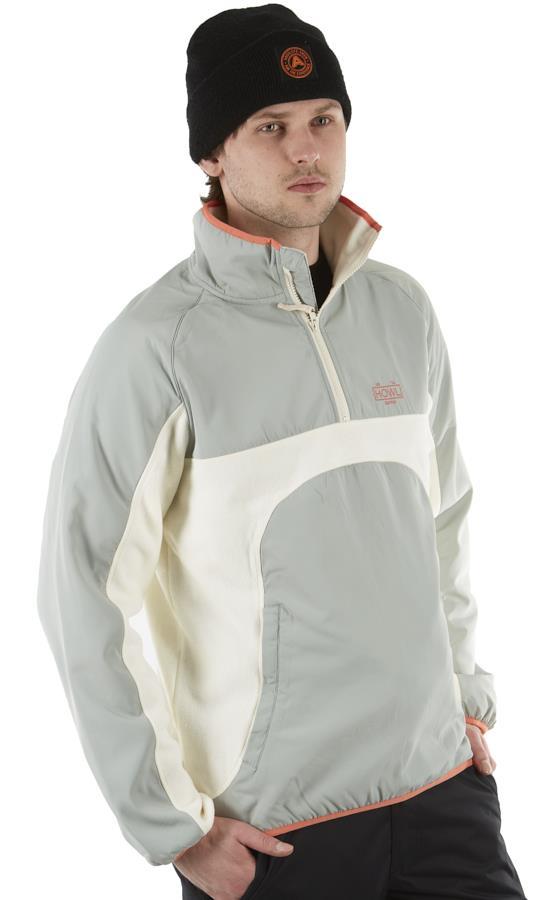 Howl Pullover Technical 1/4 Zip Fleece, M Cream