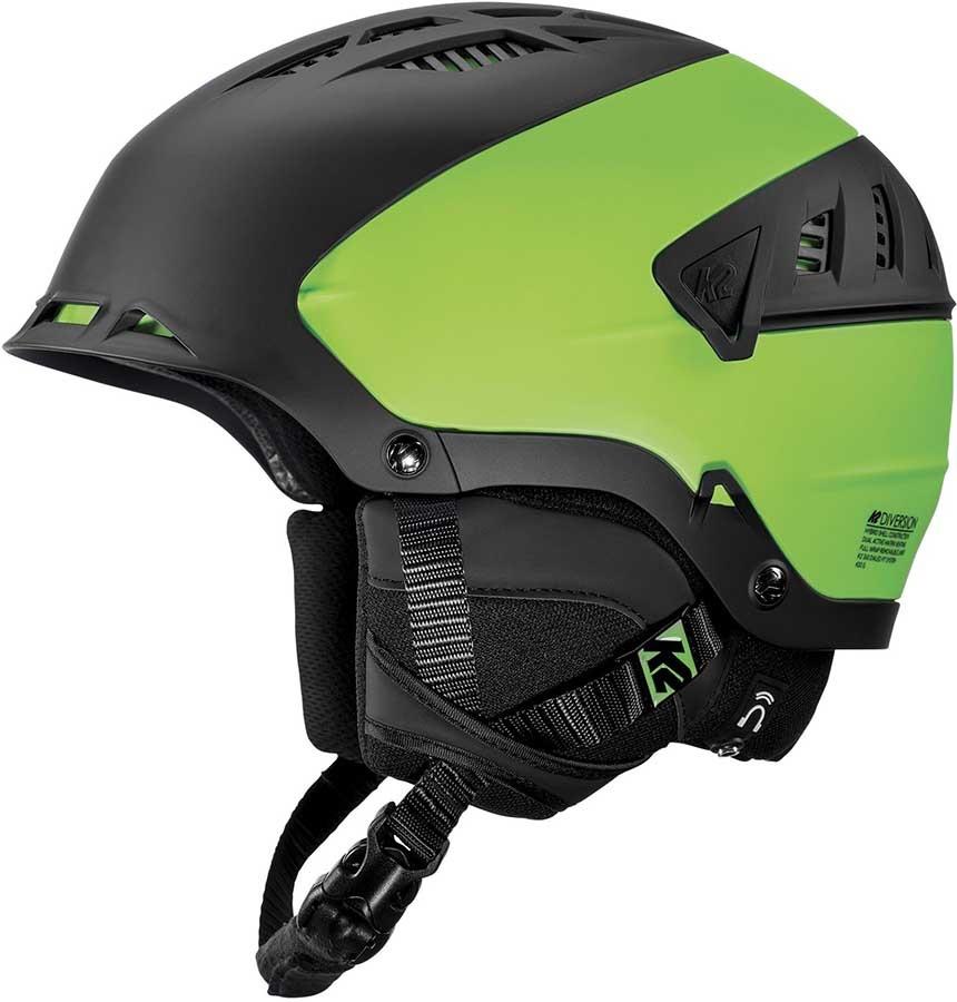 K2 Diversion Ski/Snowboard Helmet, S Black/Green