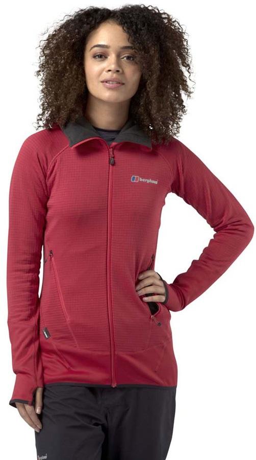Berghaus Extrem 7000 Hoody Women's Hooded Fleece Jacket, UK 16 Red
