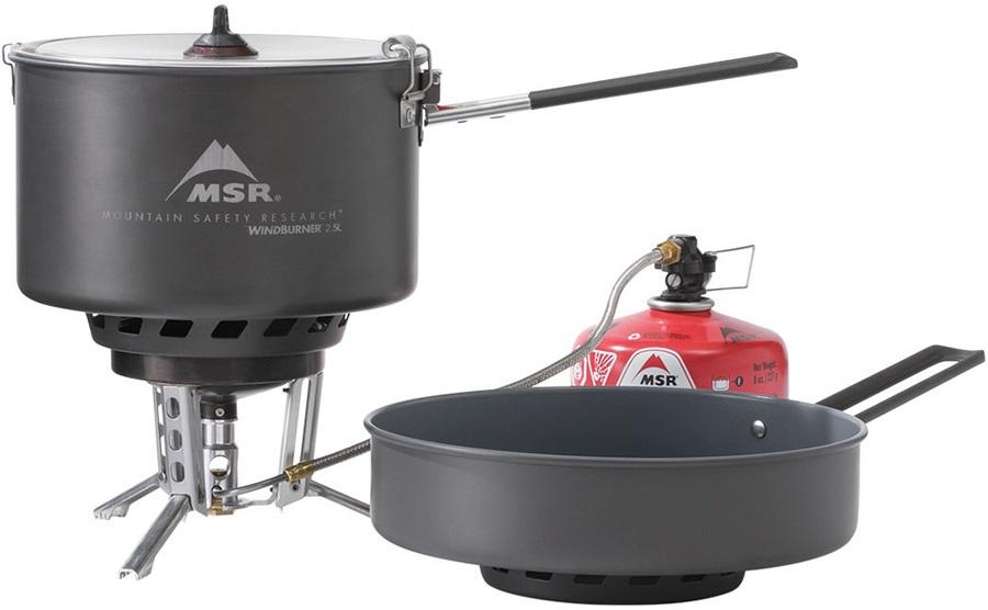 MSR WindBurner Stove System Combo Backpacking Cook Set, 2.5L