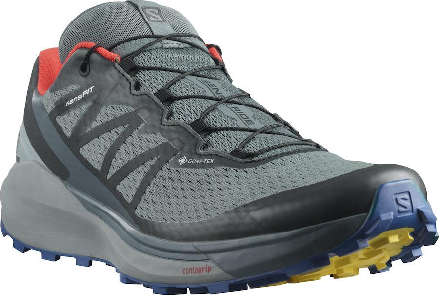 Salomon Sense Ride 4 Invisible Gore-Tex Running Shoes, UK 7 Stormy