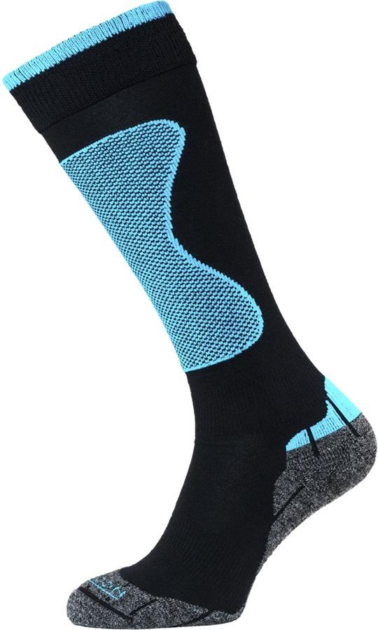 Horizon Performance Expert Merino Wool Ski Socks, UK 3-5.5 Black