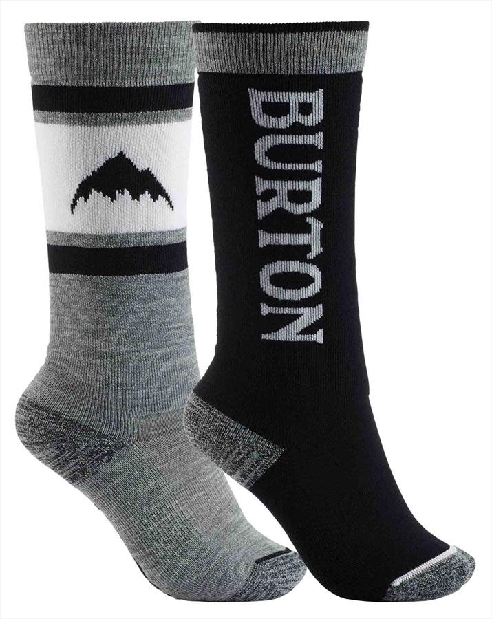 Burton Weekend Midweight 2PK Kid's Ski/Snowboard Socks, M\L Black