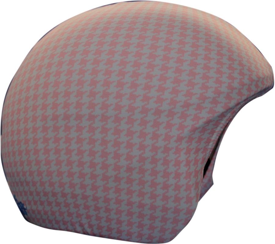 Coolcasc Printed Cool Ski/Snowboard Helmet Cover Pink/White