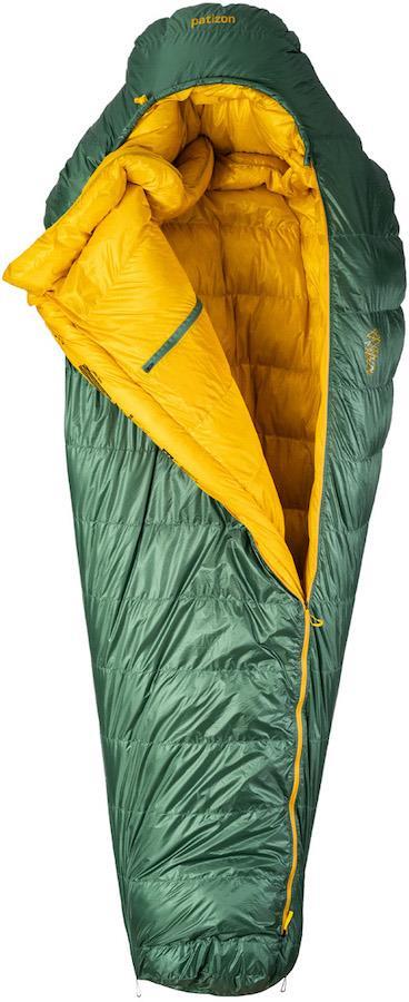Patizon Dpro 590 Ultralight Down Sleeping Bag, M Green LH Zip