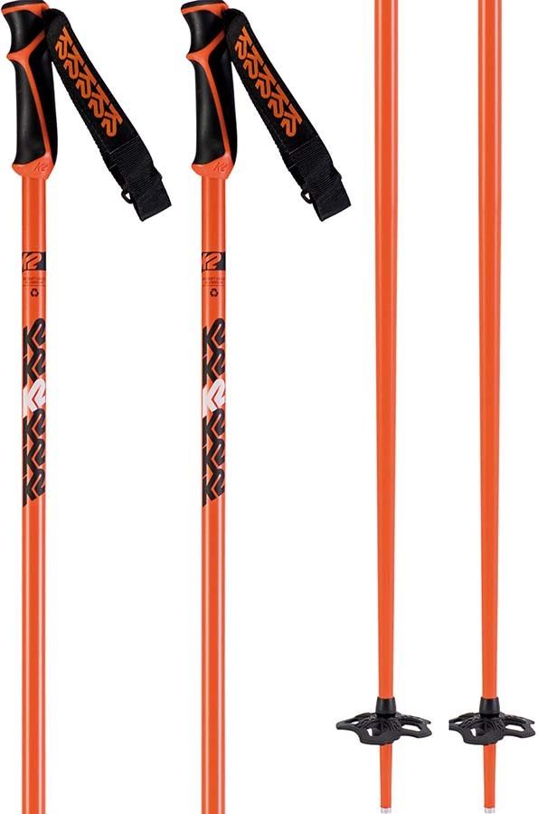 K2 Freeride 18 Ski Poles, 120cm Orange