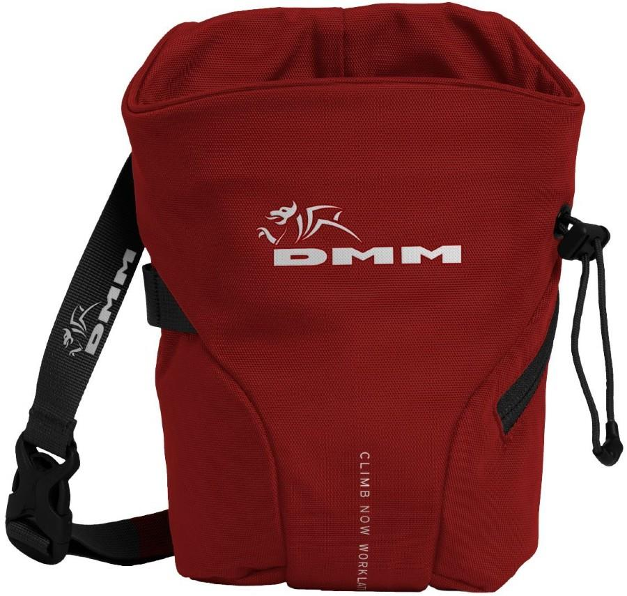 DMM Trad Rock Climbing Chalk Bag, One Size Red/Black