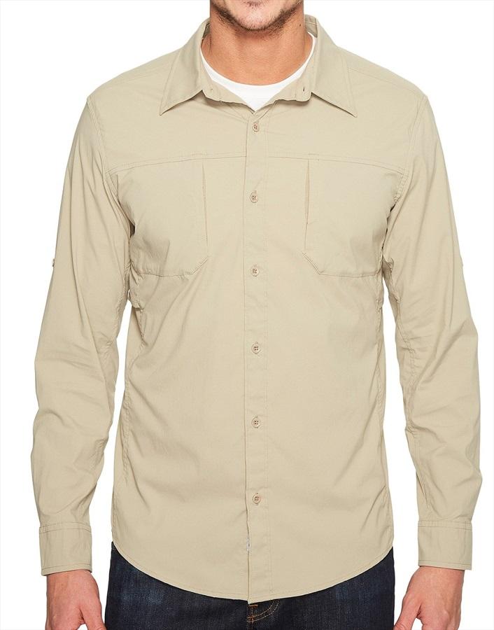 Marmot Trient Long Sleeve Technical Outdoor Shirt - S, Light Khaki