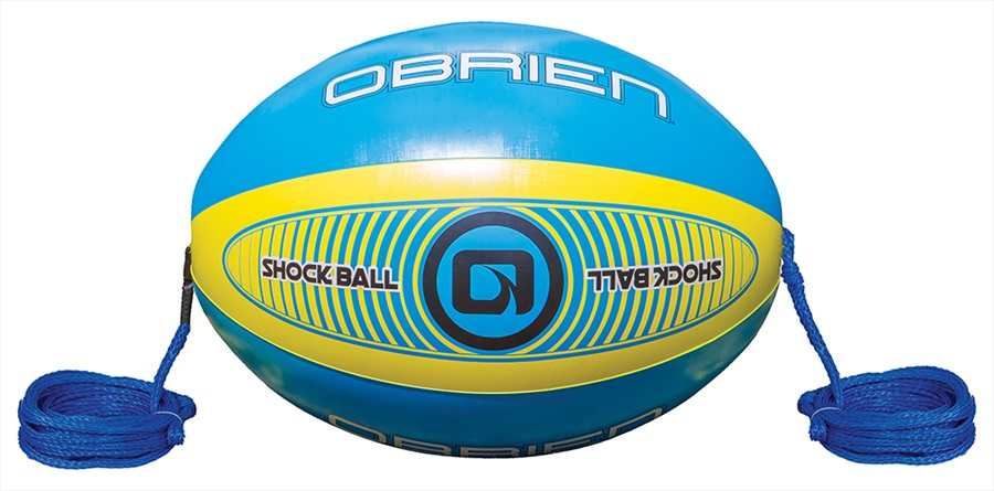 """O'Brien Shock Ball Towables Rope Float, 60"""" Blue Yellow 2021"""