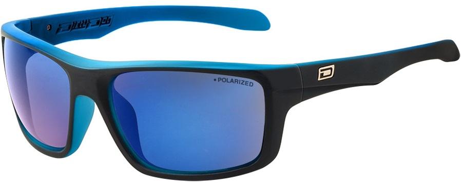 Dirty Dog Axle Grey/Blue Mirror Polarized Sunglasses, L Satin Black