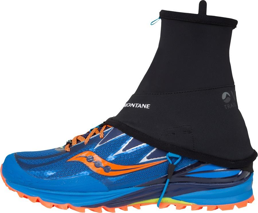 Montane Via Short Trail Running Ankle Gaiter, S Black