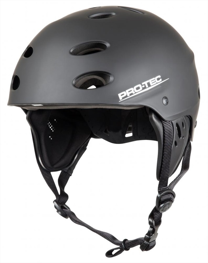 Pro-tec Ace Wake Watersport Helmet, M Black Rubber