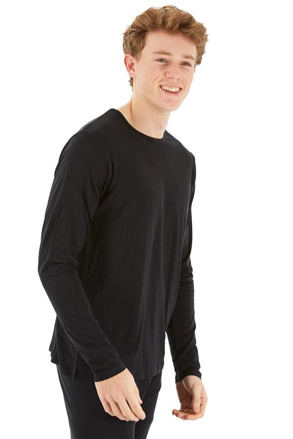 Silkbody Silkspun Long Sleeve Baselayer Top, S Black